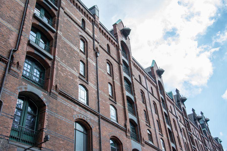 Historic Speicherstadt in Hamburg, Germany.