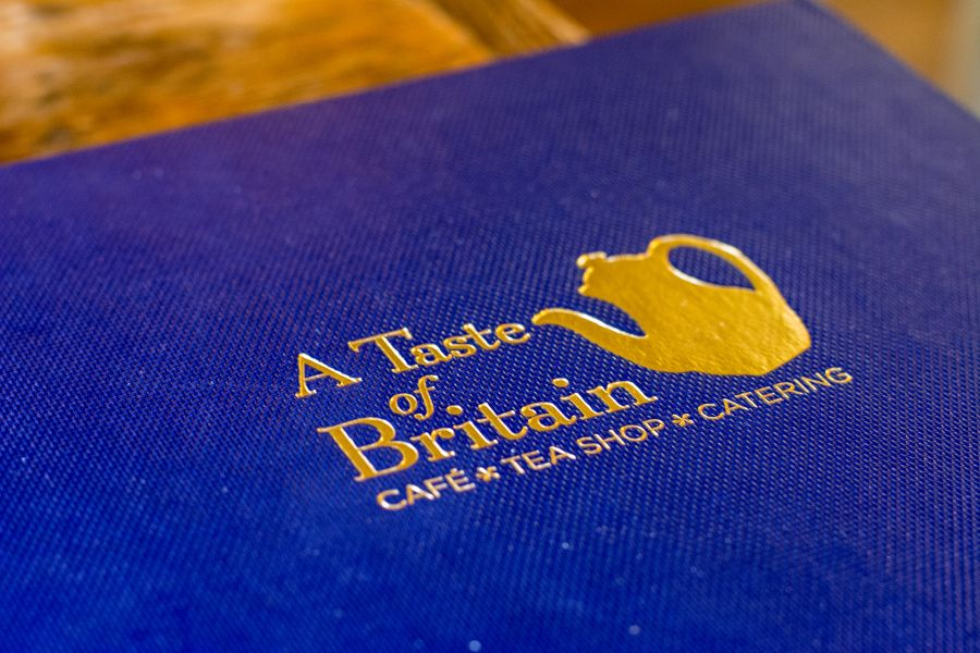 Menu at A Taste of Britain in Wayne, Pennsylvania, just outside of Philadelphia.