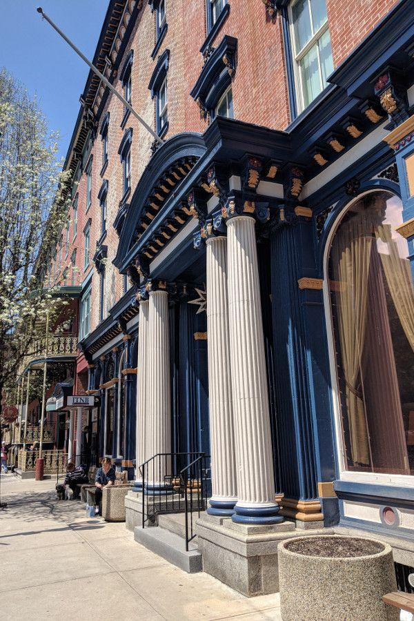 The streets of historic Jim Thorpe, Pennsylvania.