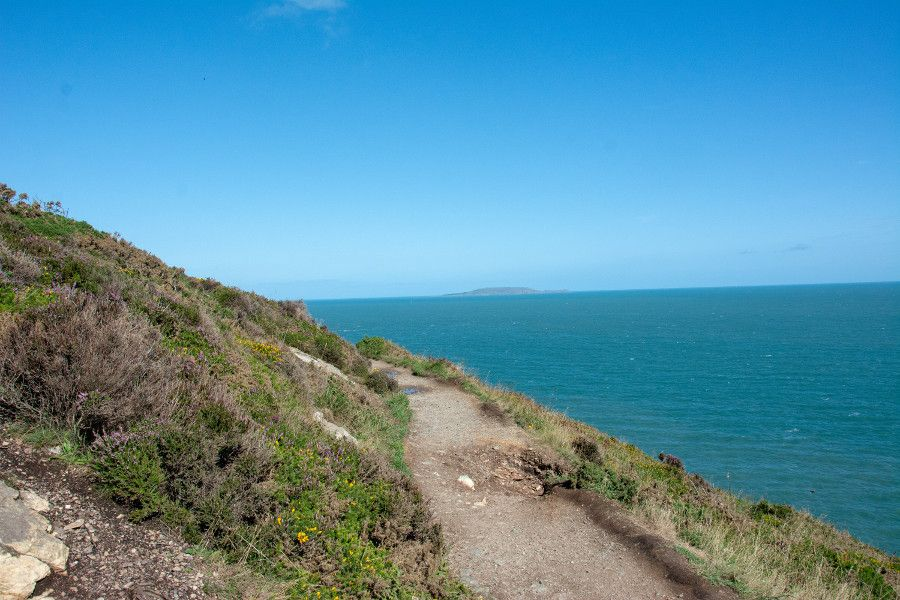 The Howth cliff walk loop trail.