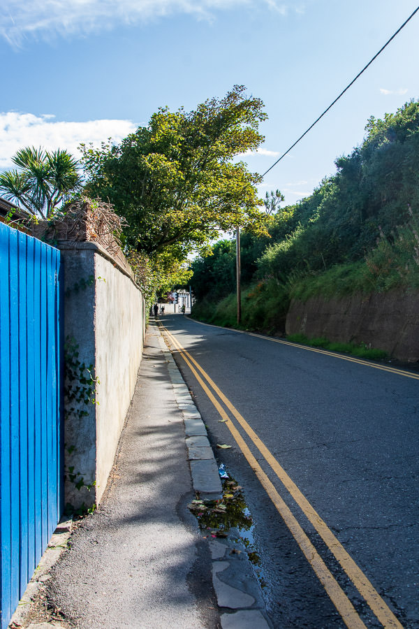 To reach the Howth cliff walk, visitors must walk or drive along the village's streets.