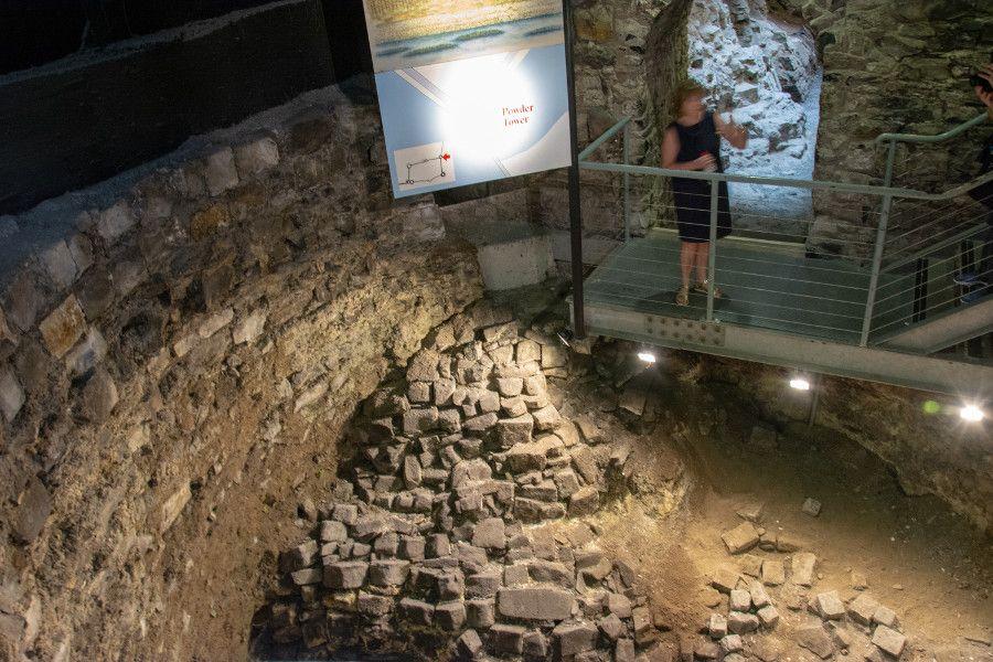 An archaeology dig beneath Dublin Castle.