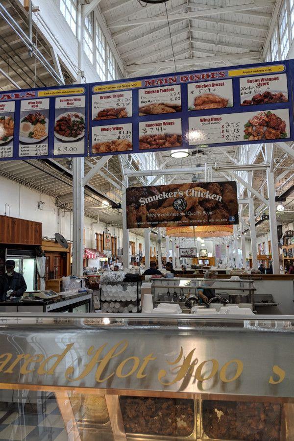 Inside the Broad Street Market in Midtown Harrisburg, Pennsylvania.