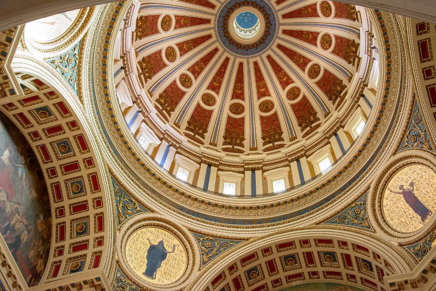 The Rotunda Dome in the Pennsylvania Capitol Building in Harrisburg.