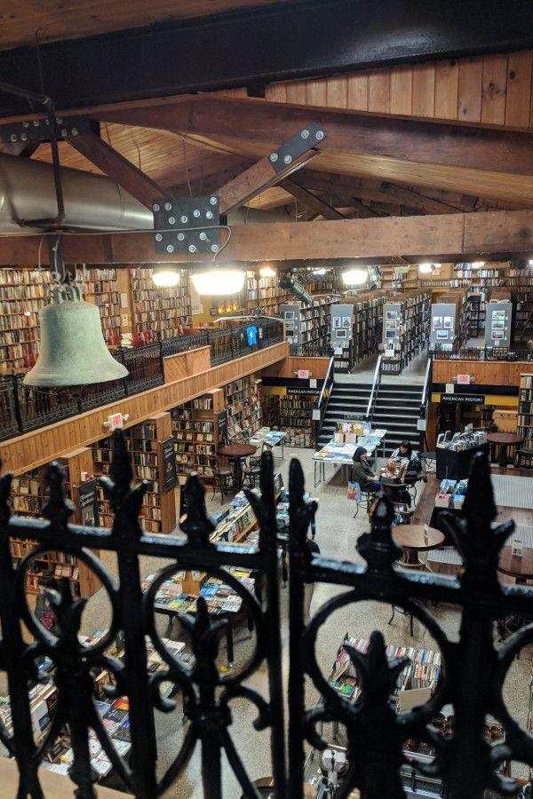 From the second floor, inside the Midtown Scholar Bookshop in Midtown Harrisburg, Pennsylvania.