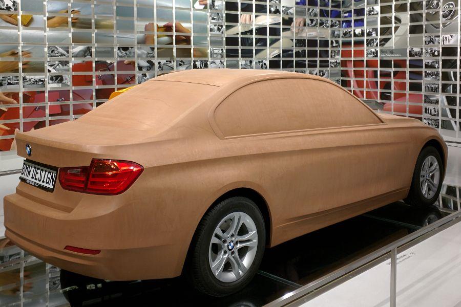 A car on display at BMW Welt in Munich.
