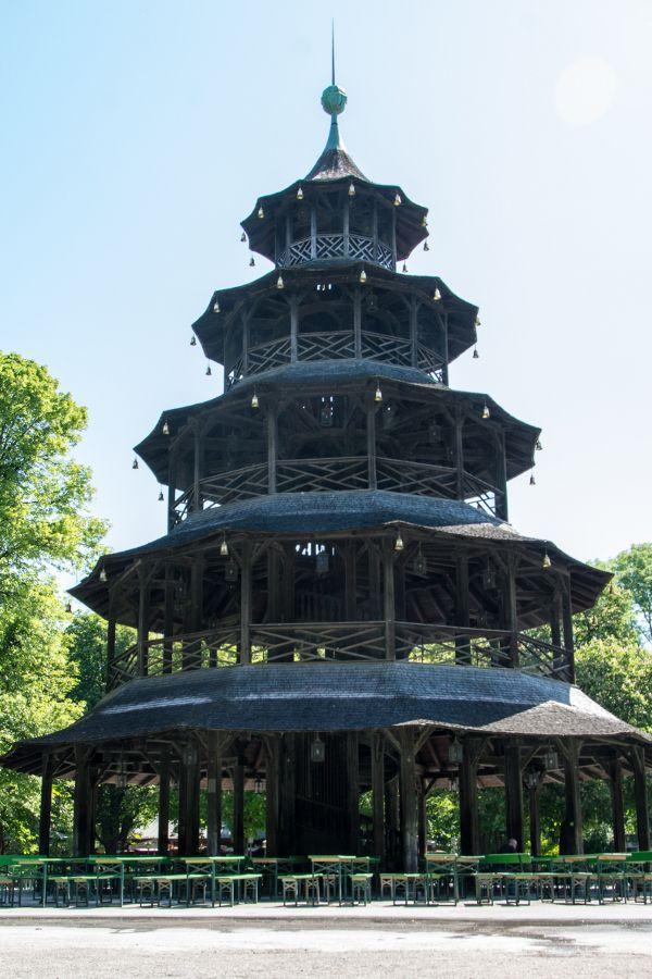 The Chinesischer Turm in Munich's Englischer Garten.