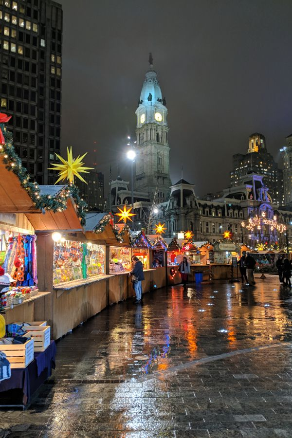One of the most popular Christmas events in Philadelphia is the Christmas Village in Philadelphia, just in front of City Hall.