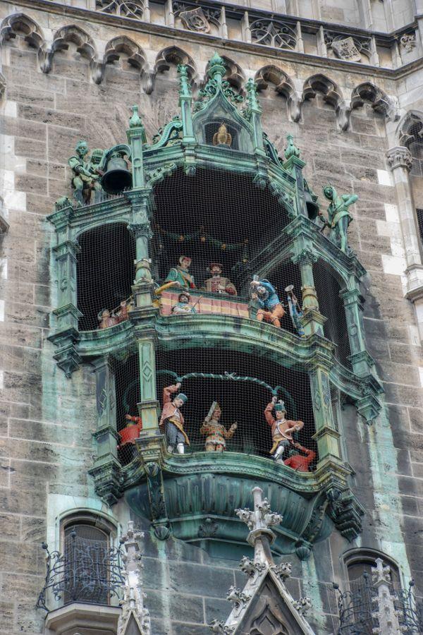 Munich's Glockenspiel in Marienplatz.