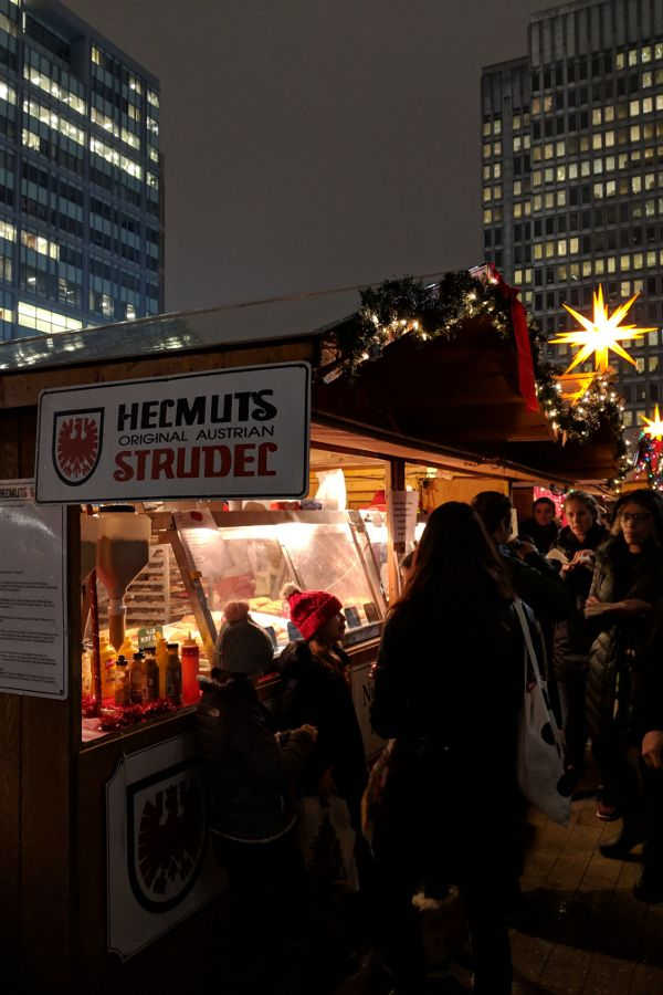 Helmut's Strudel stand at Christmas Village in Philadelphia.