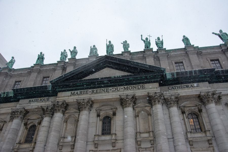 The Mary, Queen of the World Cathedral in Montreal, Canada.
