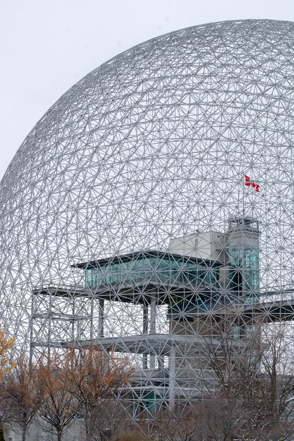 The Montreal Biosphere designed by Buckminster Fuller.