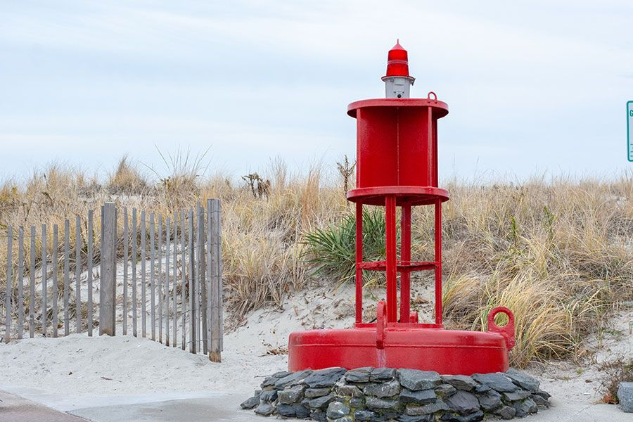 A beach buoy in Cape May.