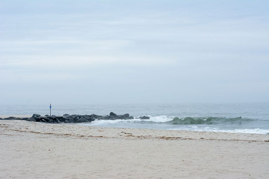 The beaches are practically empty during the Cape May winter.