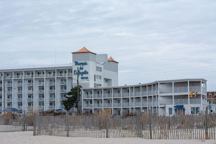 The beachfront Marquis de Lafayette Hotel.