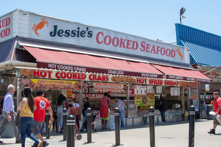 Jessie's Cooked Seafood at the Main Avenue Fish Market.
