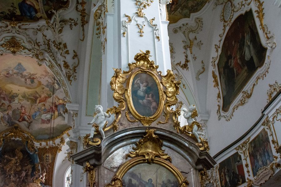 The ornately decorated Andechs church.