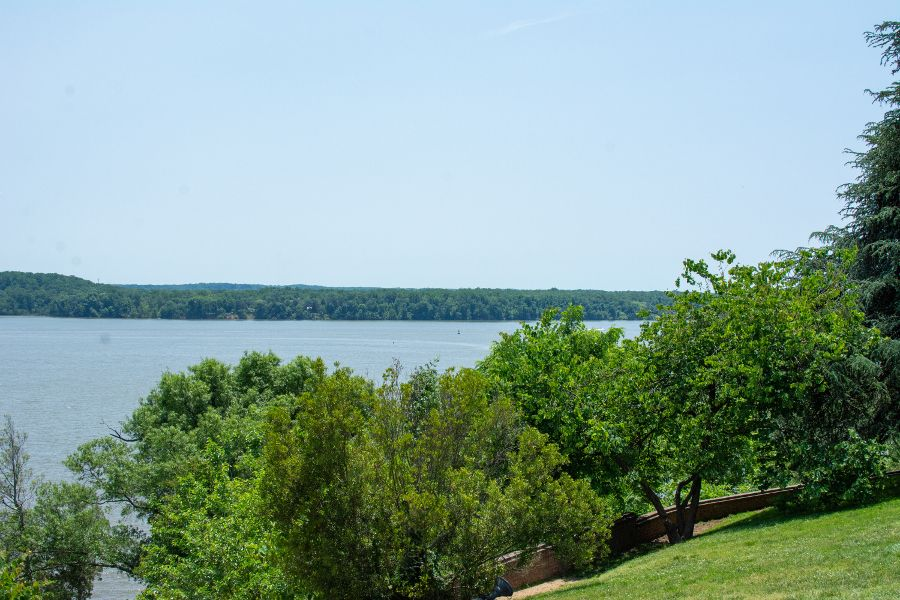 A view of the Potomac River from Mount Vernon.