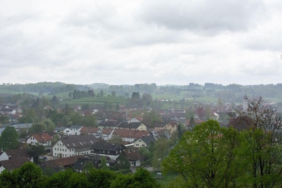 A view over the Bavarian countryside.