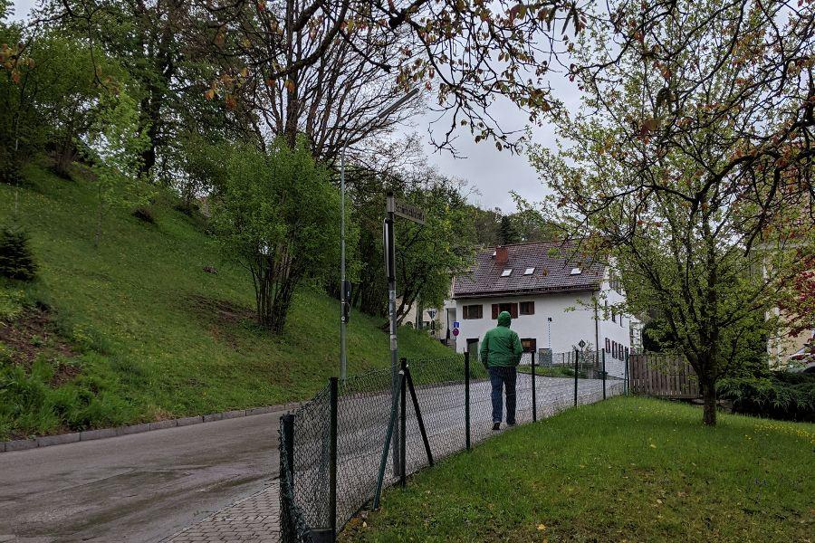Walking through Herrsching to Andechs.
