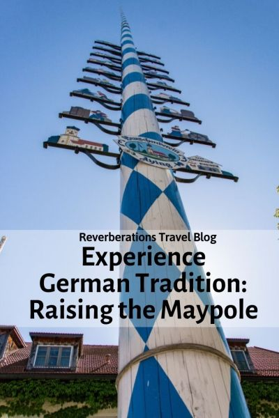 On May Day, experience the German tradition of Maypole raising (Maibaum aufstellen) in Bavaria. In some towns, they still celebrate the old fashioned way! #germany #bavaria #tradition