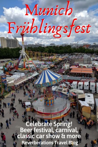 Forget Oktoberfest! The city celebrates its springfest, Munich Frühlingsfest, with a beer festival, carnival, classic car show, and more! #munich #bavaria #germany