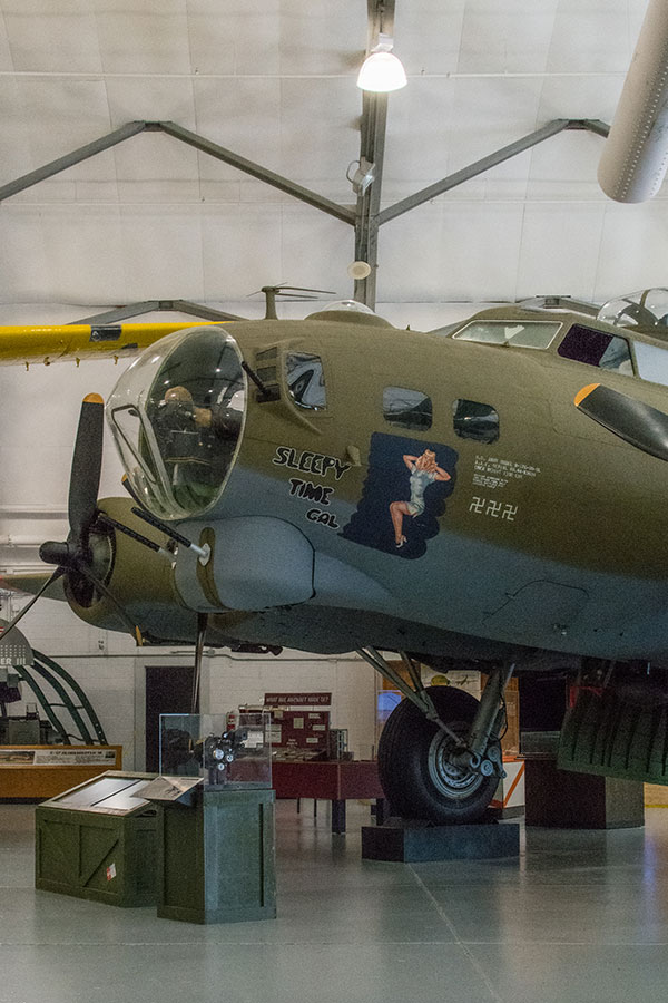 The Sleepy Time Gal, the B-17G Flying Fortress, at the AMC Museum.