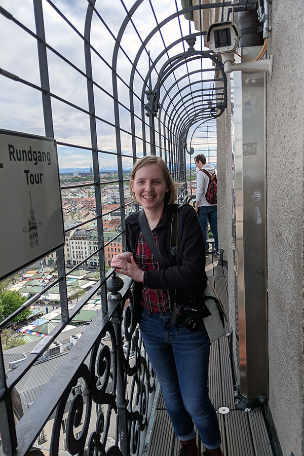 At the top of the Alter Peter Observation Tower.