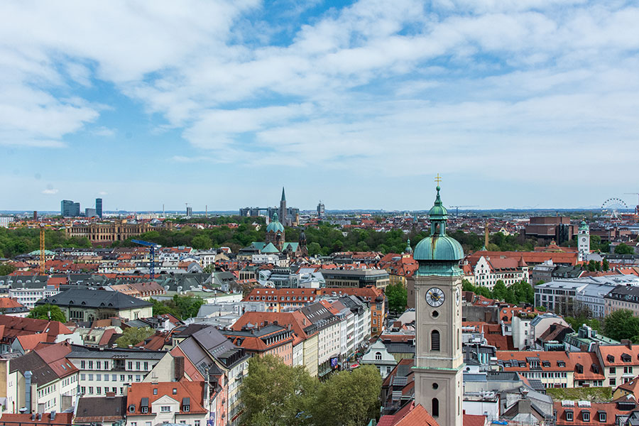 St. Peter's Church offers the best view in Munich.
