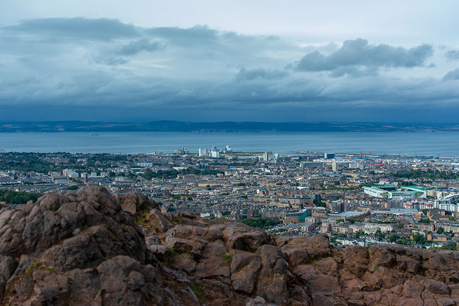 An impressive view over Edinburgh from Arthur's Seat, a must-do during 3 days in Edinburgh.