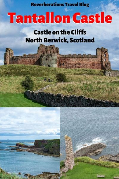 Spectacular ruins of Tantallon Castle in North Berwick, Scotland sit on the edge of a cliff overlooking the sea -- and it's only 30 minutes from Edinburgh. #northberwick #eastlothian #scotland #historicscotland #castle