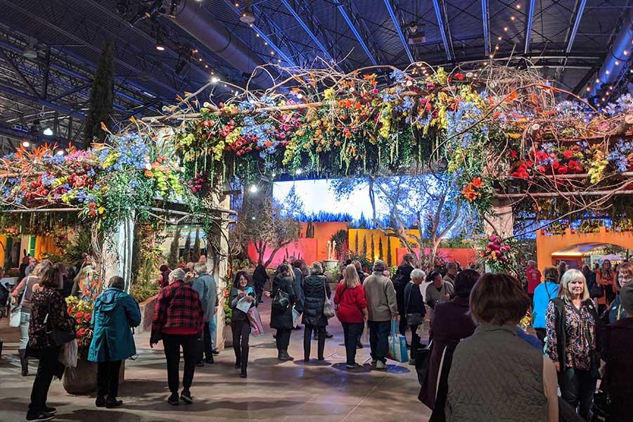 The opening flower gate at the Philadelphia Flower Show 2020.