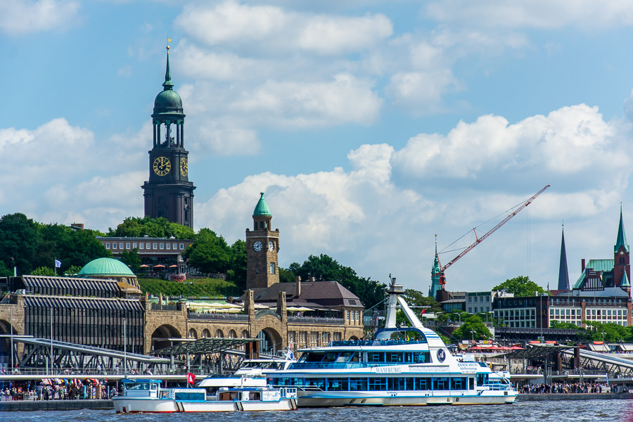 A visit to the Landungsbrücken waterfront is definitely a popular and fun thing to do in Hamburg, Germany.