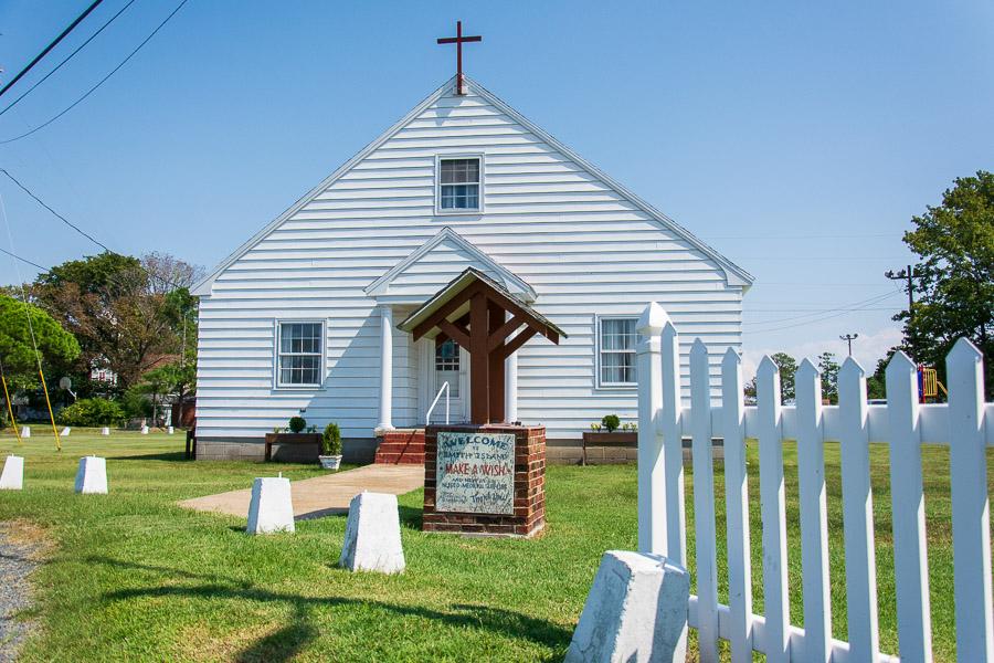 A church on Smith Island.