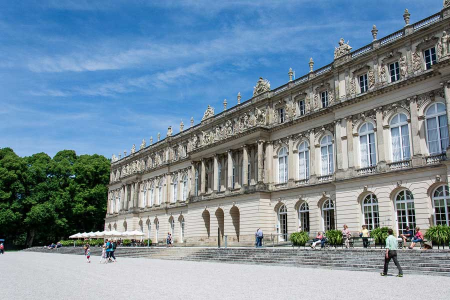 The Herrenchiemsee New Palace on the Chiemsee lake.