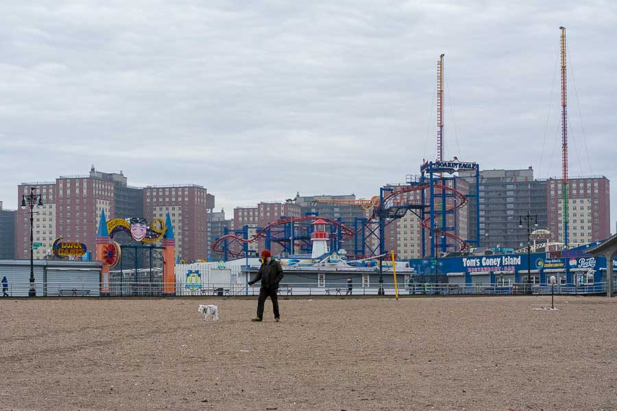 Coney Island is one of the best dog friendly beaches NYC has to offer.