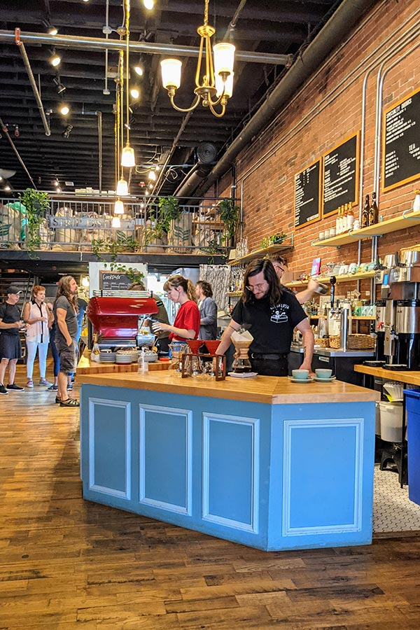 De Fer Coffee and Tea in Pittsburgh's Strip District is a cool spot for drinks and food.
