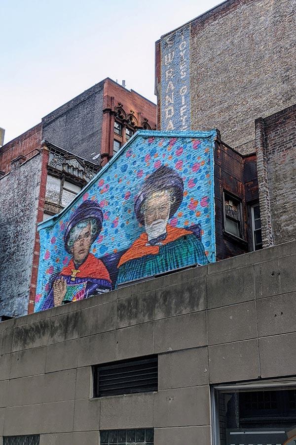 Fun murals surprise in Pittsburgh.
