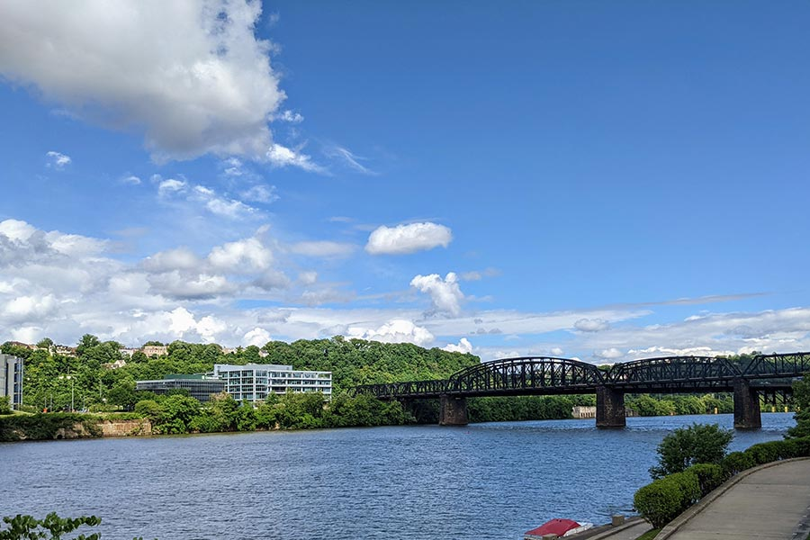 Hot Metal Bridge leads to Pittsburgh's Southside.