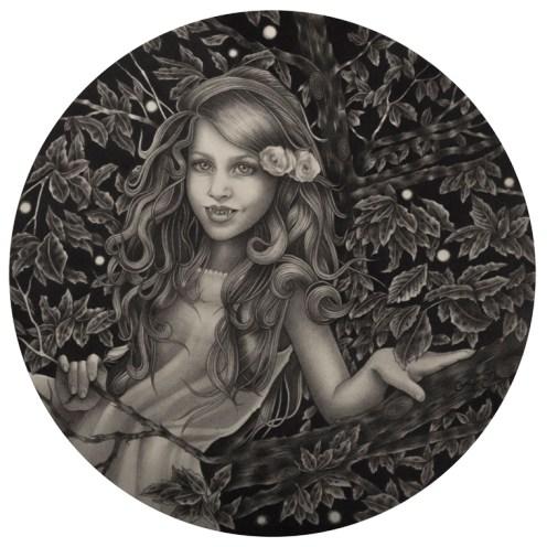 Alessia Iannetti – Beatrice Graphite on paper, 6″ diameter