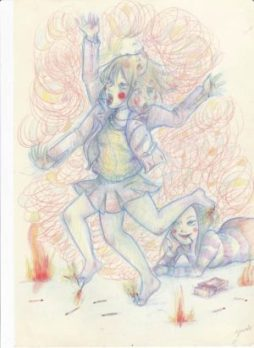 GEA* – Dance For Me color pencil, 8.5×11.5″