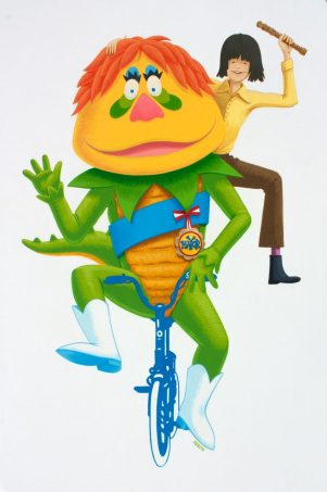 Arbito - H. R.Pufnstuf Jimmy and Freddy - 15x24 - CelVinylOnWood