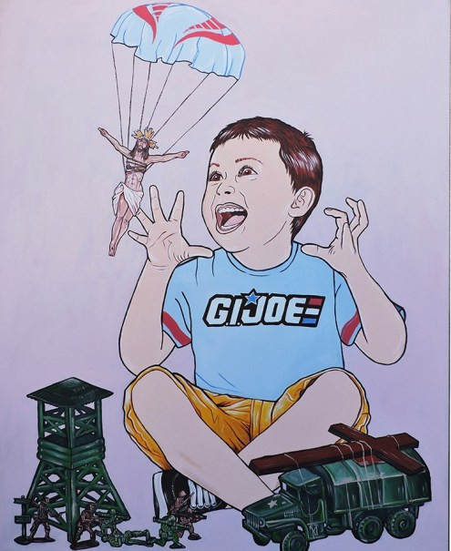 G.I. Joe acrylic on canvas, 47.2″x37.7″