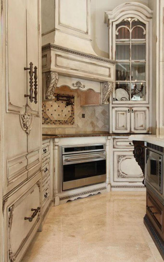 Antique Style Kitchen Cabinets - 25 Antique White Kitchen Cabinets Ideas That Blow Your Mind - Reverb