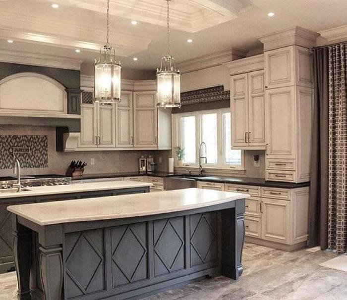 Off White Antique Kitchen Cabinets