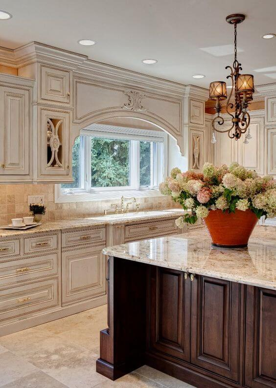 High Quality Antique White Kitchen Cabinets