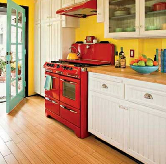 Red And Yellow Kitchen Ideas Part - 31: Kitchen Decorating Ideas Yellow Walls