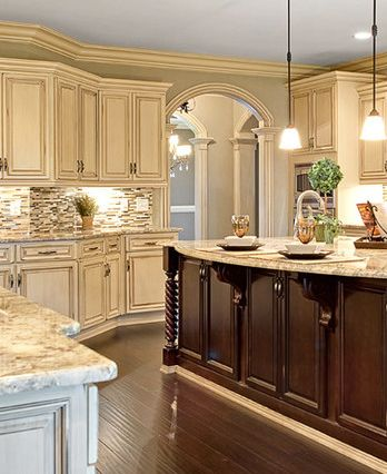 Pictures White Kitchen Cabinets Part - 48: Best Wall Color For Antique White Kitchen Cabinets