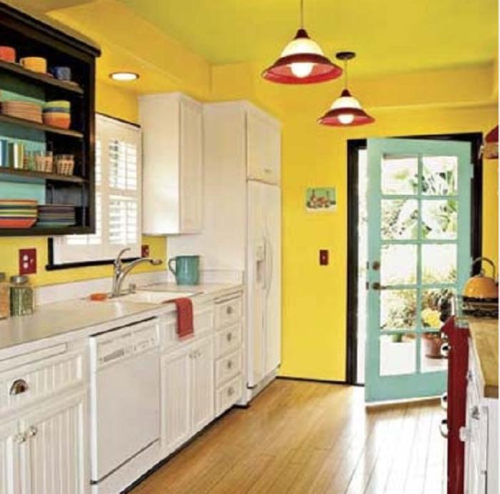 39 best ideas desain decor yellow kitchen accessories for Statement kitchen wallpaper
