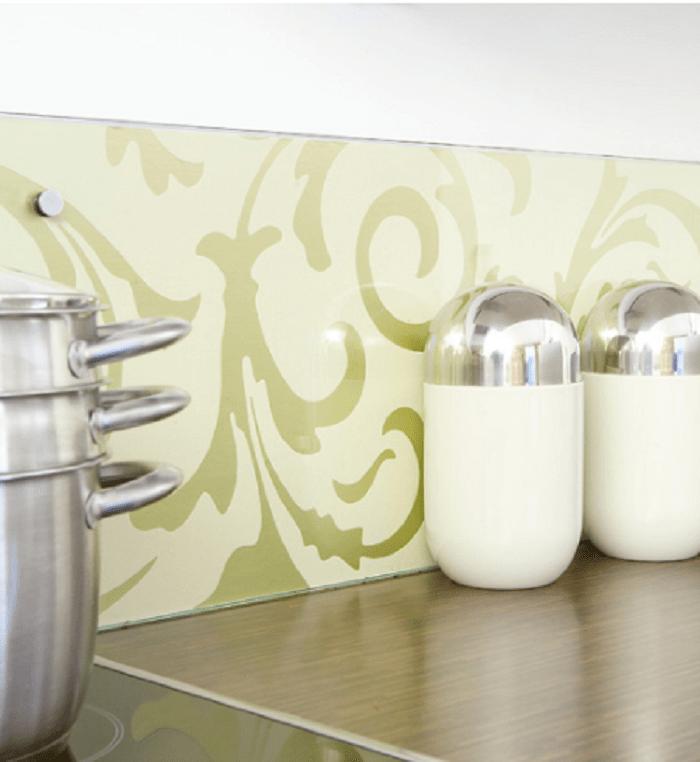 kitchen wallpaper green